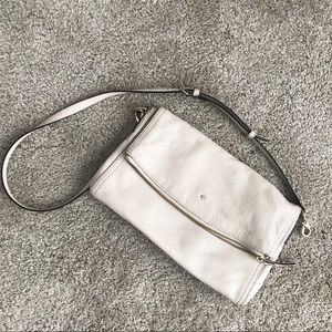 Kate Spade Leather Shoulder Bag/Clutch in Flax